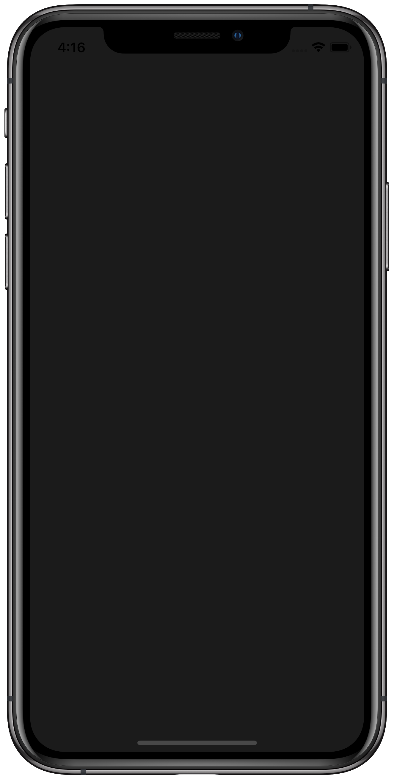 Dark iPhone app